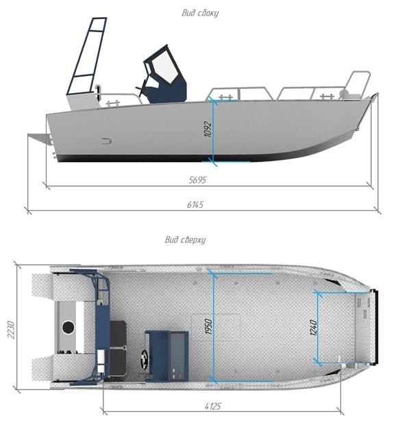 Размер лодки ДМБ 6